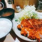 豊島屋 - 特大ロースかつ定食 1600円+ご飯大盛100円