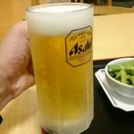 江泊温泉 和の湯 - 料理写真:お風呂上がりの生ビール