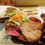 63881142 - 肉盛りステーキプレート   3種