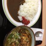 麺処 松福 - カレーライス 500円 かき揚げ天うどん 490円