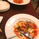 パスタピッコラ - ラザニア食べかけですみません…。