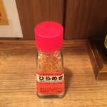 一利喜 - ミカンとタカノツメとゴマが主原料の「ひらめき」。初めて見た調味料