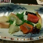 北新地 穂の河 - お刺身と春野菜