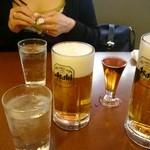 レストランカミヤ - 「生ビール小」490円、「生ビール中」770円