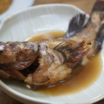 しみず食堂 - ガシラの煮付け、一般名カサゴ、尾道ではホゴです(2017.3.13)