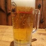 三田製麺所 ヨドバシAkiba店 - 生ビール(470円)