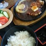 金寿司 地魚定 - マグロステーキ定食1000円。