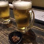63898878 - 生ビール&お通し
