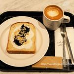 ニコタマ デイズ カフェ - ギリシャヨーグルト&ジャムトースト