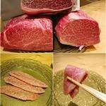 肉屋 雪月花 NAGOYA - ステーキのシャトーブリアン選べます✨下のはおまけの刺し身♡