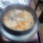 6390138 - 牡蠣釜飯(湯気でくもってます・・・)