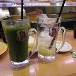 かっぱ寿司 - ドリンク写真:濃い~かっぱ茶ハイと寿司屋のガリサワー各320円(税別)