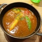 コトコトサリョウ - チリビーンズとごろごろ野菜のキーマカレースープ