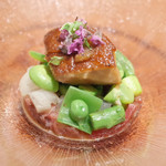 Yoroniku - 春野菜とフォアグラのローストビーフ