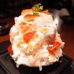 Yoroniku - いちごショートのかき氷(特別メニュー)
