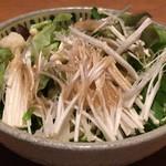 江戸前肉割烹 宮下 - 生榎木のサラダ