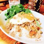 アジアン食堂 ジョージのレシピ - ガパオライスにパクチー!!