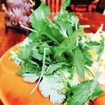 アジアン食堂 ジョージのレシピ - おかわりOKなパクチー!!