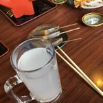 福島屋 - ドリンク写真:蕎麦湯割りなど 2017.3