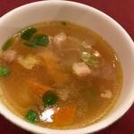 大阪新阪急ホテル - 春野菜スープ
