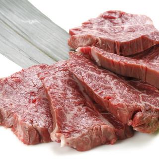 当店のお肉は鳥取和牛、島根県黒毛和牛を使用しています