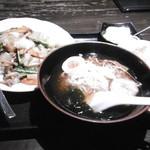 えん弥 - 五目中華丼とミニラーメン