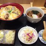一ゆう - 炭火焼親子丼セット(温そばver)¥930