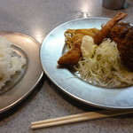 グリルSano惣 - コロッケ定食エビフライ&ミンチカツ