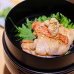 紺碧の海 - 金目鯛の黄金茶漬け