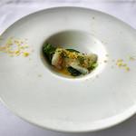 リストランテ・ヒロ・チェントロ - 鯛のカルパッチョ 菜の花とカラスミ
