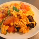 中華料理 大創苑 - 玉子とトマトの炒め