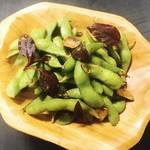 枝豆のペペロンチーノ風or塩