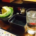 大阪串かつ てん家わん屋 - 二度漬けはもちろん禁止!