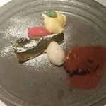 Cantina GIOIOSO - ティラミス、抹茶のチーズケーキ、パンナコッタ、へーベルナッツとラズベリーのジェラート