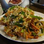 33區熱炒生猛海鮮 - 沙公(ノコギリガザミ)の炒め物