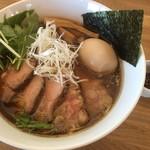 湖麺屋 リールカフェ - 特製正油ラーメン税込1080円