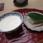 青山 仁 - 椿餅 酒粕プリン