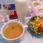63948595 - ラッシー・スープ・サラダ