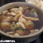 製麺練場 風布うどん - 肉汁