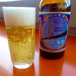 舞子 トムズ カフェ - 明石ブルワリー製の地ビール。(330ml、500円)