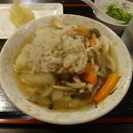 63962022 - そば米うどん 小 と半熟ゆで玉子の天ぷら