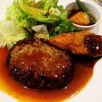 ジョナサン - 日替わりランチ・ハンバーグハンバーグデミグラスソースと白身フライ野菜みぞれ煮