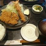 63968285 - ひれかつご飯with追加海老フライ