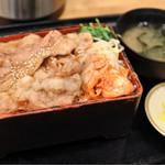 丸寿 - ぶた重  ご飯大盛り  750円
