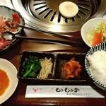 63976657 - 「お好み定食」はA~Dの四種類あります。 お好み定食A(カルビ、ロース、ハラミ)