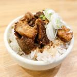 麺や 七彩 - チャーシューご飯