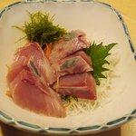 魚玉 - カンパチ刺身800円