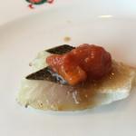 小倉 匠のパスタ ラ・パペリーナ - 炙った梭子魚 トマトソース