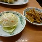 日高屋 - ポテサラとメンマ