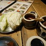 水炊き・焼き鳥 とりいちず - 2017/1/28  お通しのキャベツ  299円